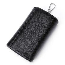 Wallets Organizer Genuine-Leather Pouch Case Coin-Purse Door-Keys Multi-Functional Women