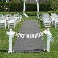 Только что вышла замуж Гирлянды Западная Свадьба Бантинг Баннер Партии Декора Ручной Работы Знак