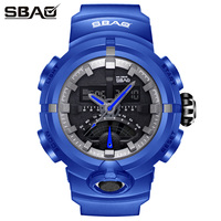 2019 SBAO Women Watches Black Digital Sports Watch LED 3ATM Waterproof Military Watches Fashion Women Watch relogios masculino