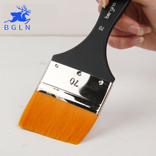 BGLN 2 stücke Flachkopf Schrubben Pinsel Set Gouache Malerei Pinsel Öl Pinsel 80mm 70mm Kunst Liefert Student Schreibwaren