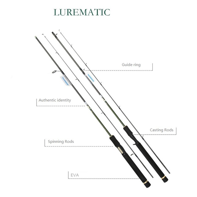 US $118 3 |Aliexpress com : Buy SHIMANO Lure rod LUREMATIC Casting Rods  Spinning Rods Length 1 68/1 83/1 73m Super Light Carbon Fishing Rod Brand