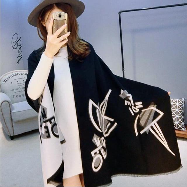 2016 New Winter Scarf For Women Scarves Warm Shawls Blanket Geometric printing Wrap Scarf Fashion Imitation cashmere Scarf 8