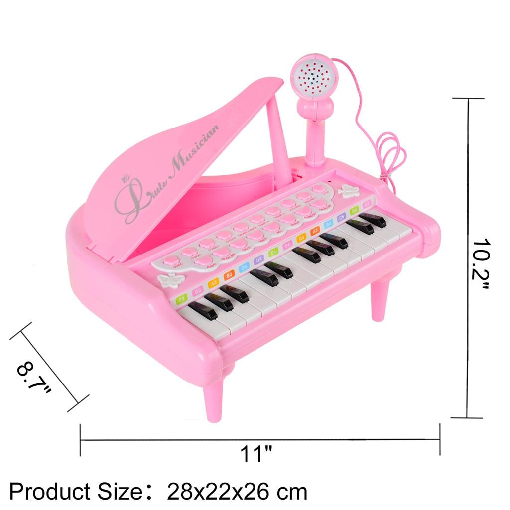 Piano clavier jouet enfants premier anniversaire cadeau 24 touches multifonctionnel Musical électronique jouet Piano cadeau créatif 5.27 - 2