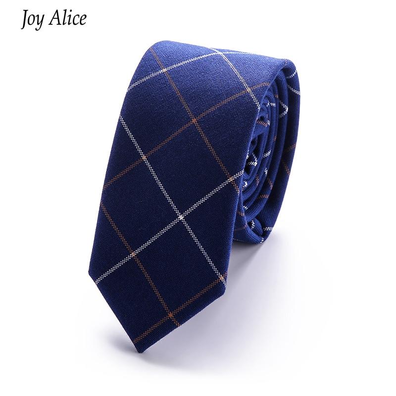 2018 Divat Márka vékony 6 cm nyakkendő, keskeny pamut nyakkendő - Ruházati kiegészítők