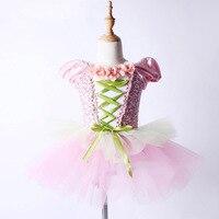 2018 New Ballet Tutu Professional Pink Ballet Dress Children Girl Dance Costume Fairy Party Princess Skirt Ballet Clothes DN1056