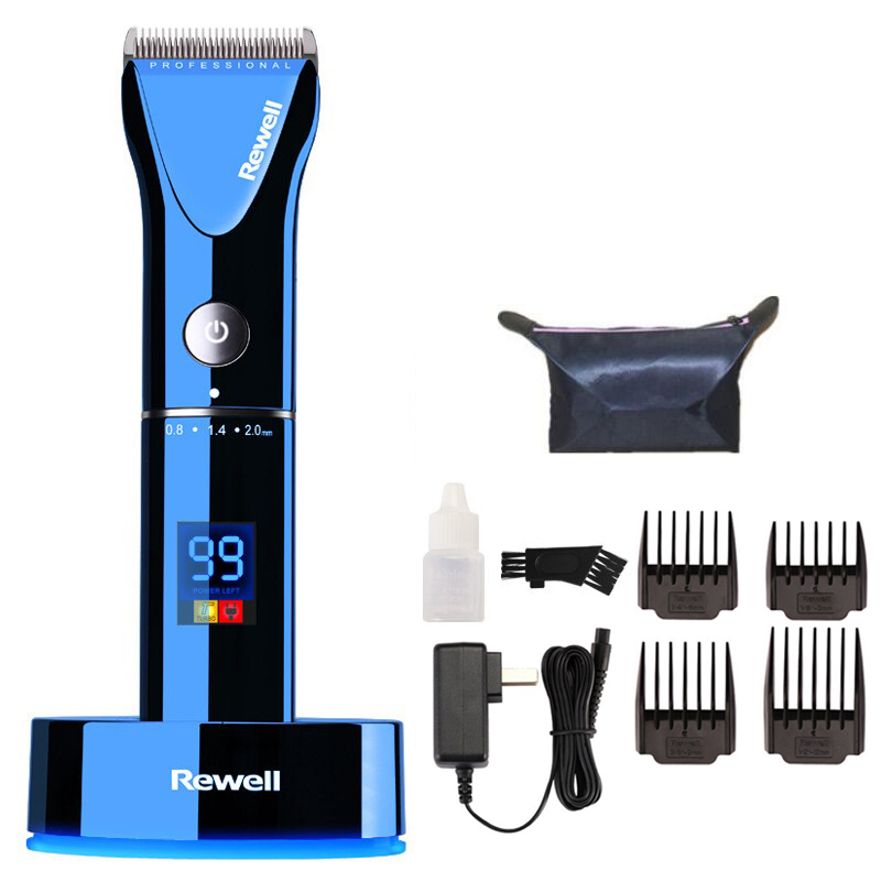 F17 professional hair clipper rechargeable trimmer lithium battery Titanium alloy blade cutter adjustable comb 100 240V