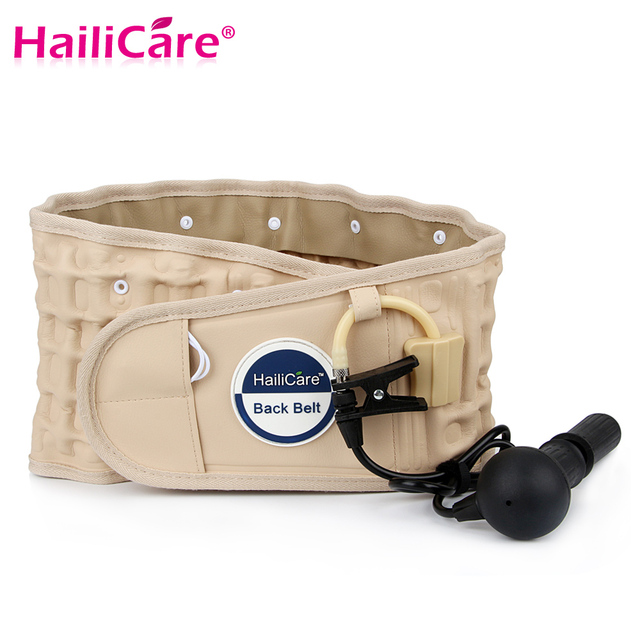 Hailicare Body Relaxation Massager Back Belt Spinal Air Traction Physio Decompression Back Brace Back Pain Lower Lumbar Support