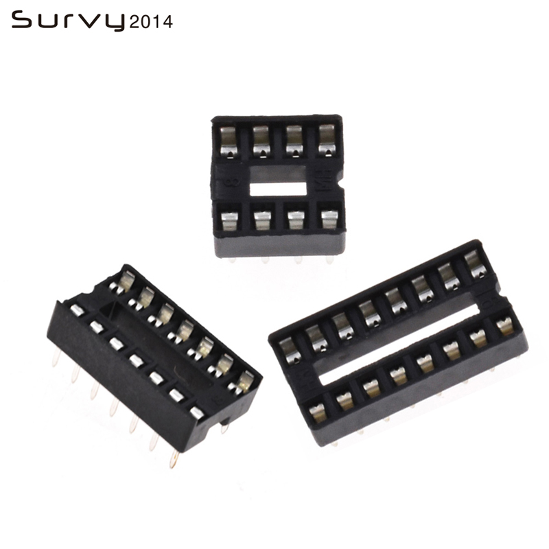 50 PCS 18 PIN 18PIN 2.54MM Pitch DIP IC Sockets Adaptor Solder Type