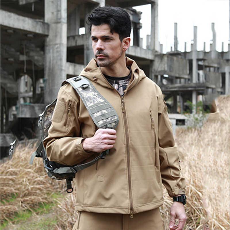 Mascubeジャングルv5.0軍事戦術男性ジャケットサメ皮のソフトシェル防水防風男性ウインドブレーカージャケットコート