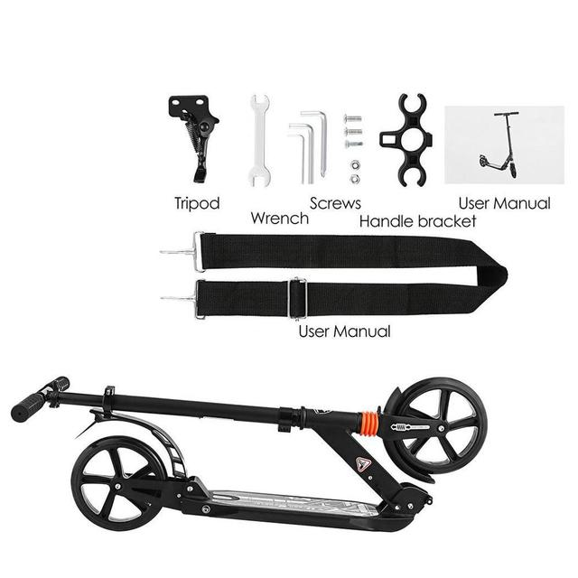 Foldable Lightweight Aluminum Scooter Ideal for Campsites and City Commuting