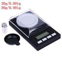 Portable Mini 20g/0.001g 50g/0.001g Échelle Numérique LCD Électronique Équilibrer la Capacité Diamant Bijoux haute Précision Balance De Poche