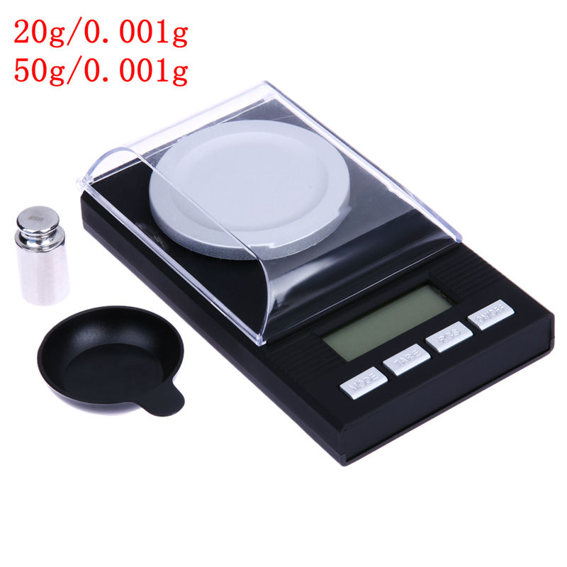 Portable Mini 20g/0.001g 50g/0.001g Digital Scale LCD Electronic Capacity Balance Diamond Jewelry High Precision Pocket Scale ...