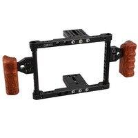 DSLR видео клетки для камеры стабилизатор деревянная ручка аксессуары фотостудии Универсальный canon nikon panasonnic C1344