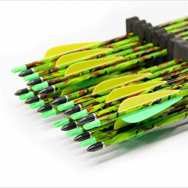 """6//12//24pcs Aluminum Arrows 30/"""" Spine 300 Changeable Tips Hunting Archery OD8.8mm"""