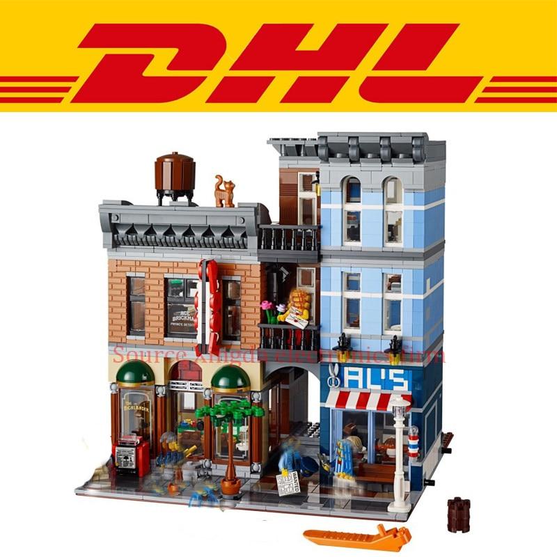 2018 New 2262Pcs Creator City Street Figures Detective's Office Model Building Kits Blocks Bricks Kid Toys Compatible Gift 10246