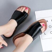 AARDIMI летние сандалии из натуральной кожи; Летняя женская обувь; тапочки; ортопедические сандалии для коррекции стопы