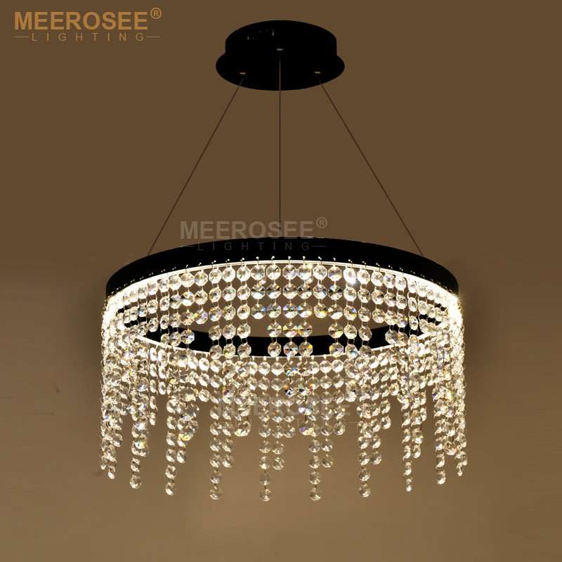 New design led ring pendant lights crystal lamp led hanging drop lamp dining room led lamparas crystal lighting home luminaria