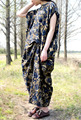 2016 female  summer original design loose  retro personality cotton gown dresses