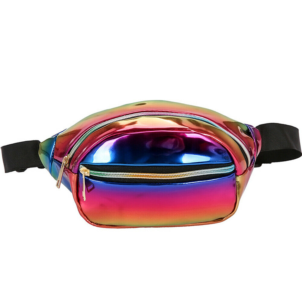 Candy Color Belt Bag Fashion Women's PU Leather Fanny Pack Outdoor Leisure Hip Hop Waist Bag