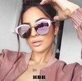 Pink Ladies Espelho Rodada Óculos De Sol Das Mulheres Marca de Luxo Designer de óculos de sol Luneta 2016 Novos óculos de Sol Para As Mulheres UV400 Lens Sombra