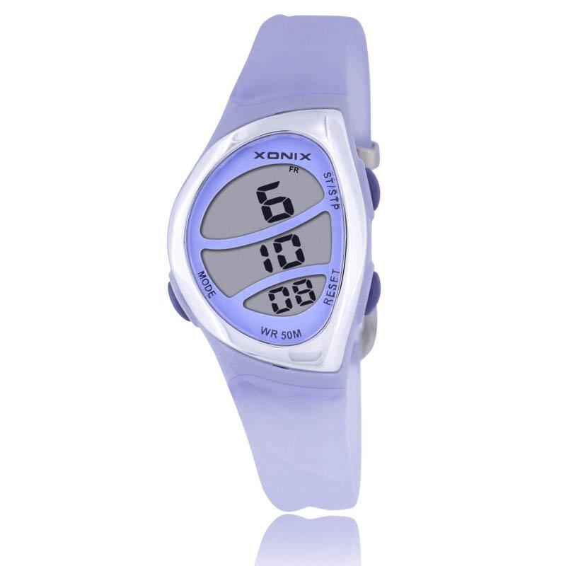 90447d461 أعلى جديد أزياء المرأة الرياضة الساعات ماء 50 متر السيدات جيلي الرقمية ووتش  سباحة الغوص ساعة اليد montre فا.