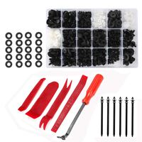 446 Pcs Car Retainer Clips, Auto Plastic Clips & Fasteners Kit with Fastener Removal Tool for Bumper Bar, Trim Panel and Dashb
