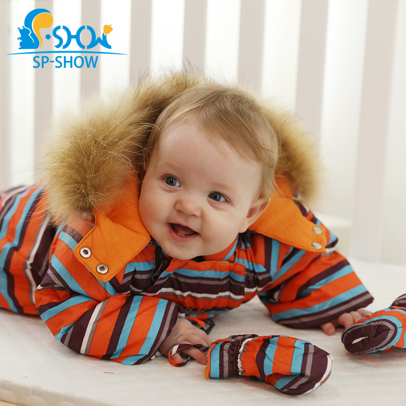 SHW Autumn Winter Newborn Baby Warm Jacket Striped Clothes