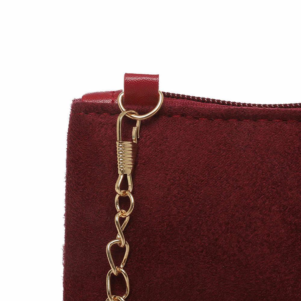 Nouvelle décontracté offre spéciale belle femmes Hairball solide couleur daim sac à bandoulière pochette sac à bandoulière sac de téléphone