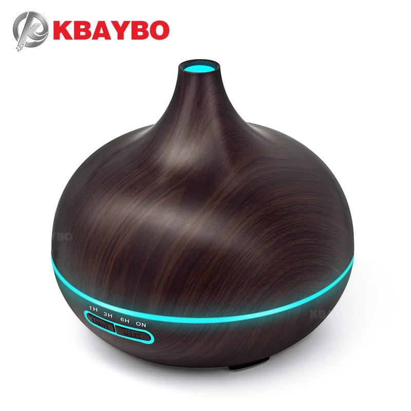Kbaybo humidificador aroma esencial difusor de aire madera aire purificador Cool Mist Maker planta natural puro aceites esenciales para el hogar