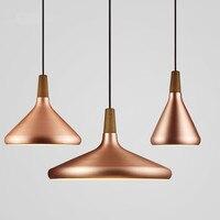 Modern Pendant Lights Nordic Lamp LED Copper Aluminum Hanglamp luminaire suspension living room kitchen fixture vintage light