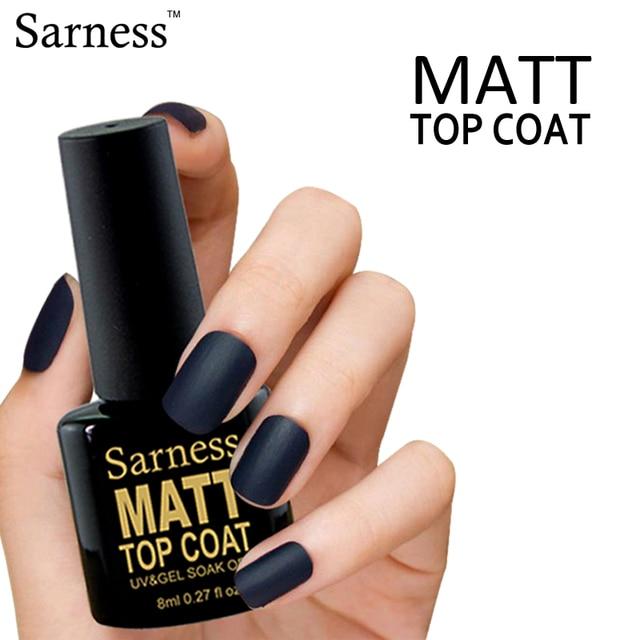 sarness Matte Top Coat Gel Nail Polish Beauty Professional UV/LED ...