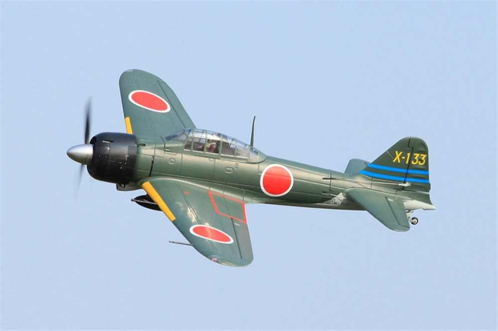 FMS 1400MM 1 4M Zero Fighter Green 6CH with Flaps Retracts LED 4S EPO PNP  RC Airplane Japanese Warbird Model Plane Aircraft A6M3