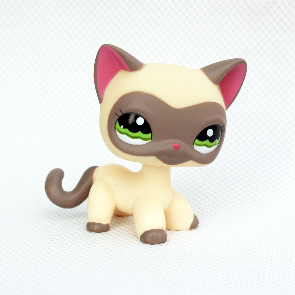 pet shop toy #1116 red ear grey mask standing short hair cat animal kitty lps pet shop short hair kitty and dog collection classic animal pet cat free shipping toys action figures kids toys gift