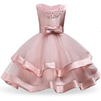 High Quality School Opening Ceremony Dresses For Girl Tulle Lace Infant Toddler Pageant Flower Girl Dress