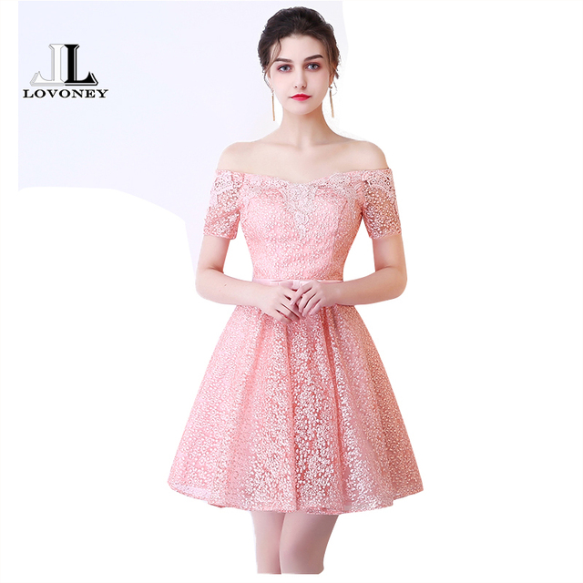 Lovoney hs213 sexy mini corto Vestidos de baile 2017 a line fuera ...