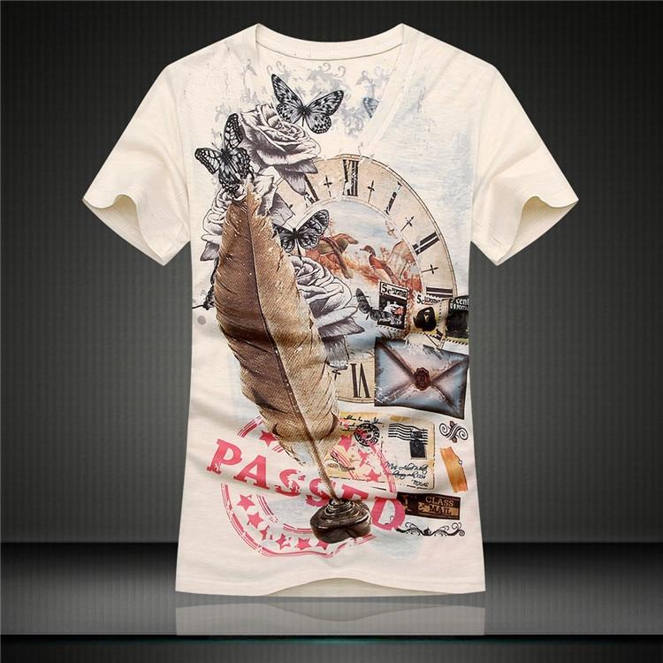 5ab0c936 2015 Brand T shirt Top Design Patchwork Print Boy 2015 Retro Printing Tee  M-XXL Casual Men's T-Shirt Short Sleeve Top Hip hop