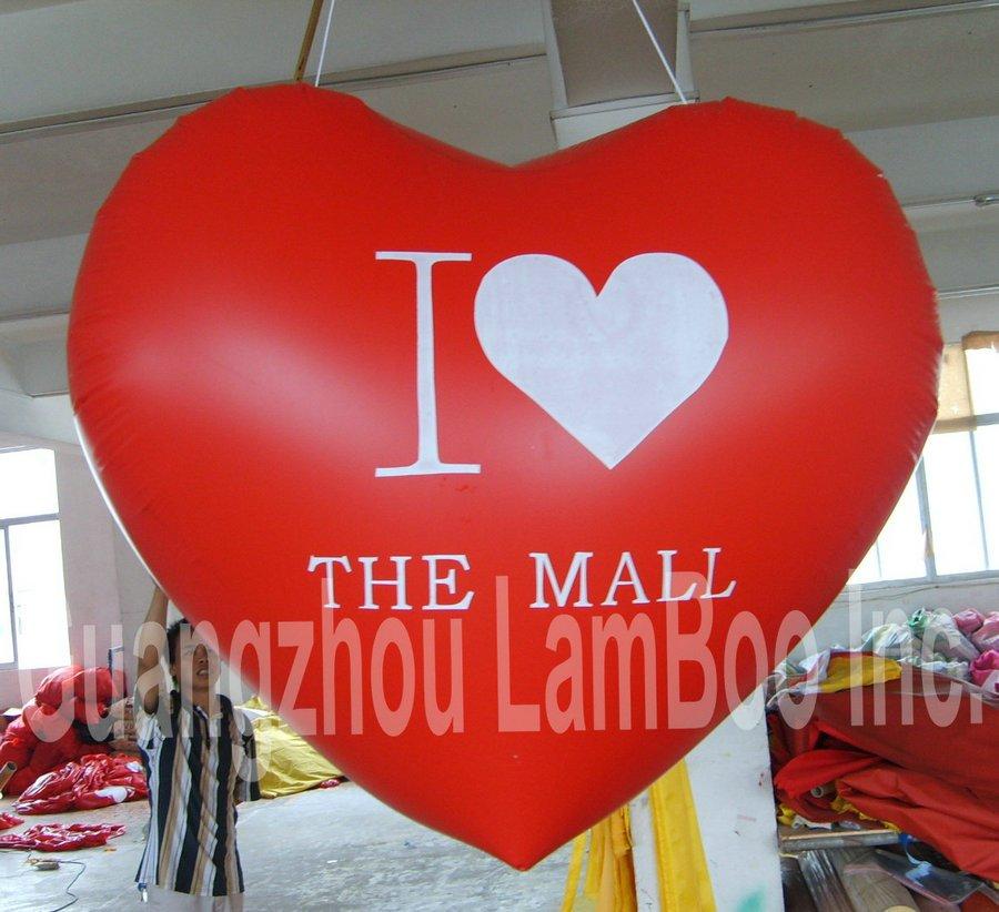 Горячая 2,4 м высокая реклама сердце форма Гелиевый шар для мероприятий/