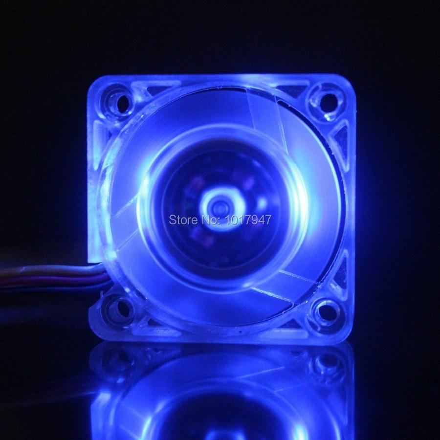 50 Pieces Lot Gdstime Transparent Case Blue LED Brushless Cooler Heatsink Fan 40mm 40*40x10mm 4010S 20 pieces lot gdstime 40mm 40 x 40 x 10mm 4010s dc 12v 2p brushless cooler cooling fan
