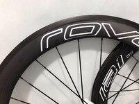 700C 60mm 23/25mm width ruote in carbonio bici da corsa Rovai wheel roues carbone route pneu UD matte wheels for suitcases