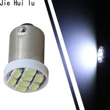 50Pcs 8 SMD 1206 1210 Car Led Vehicle Panel Lamps Auto Interior Reading Lamp Bulb Light Dome BA9S