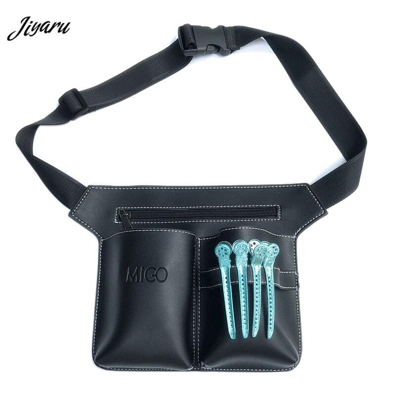 1 Stück Barber Haar Scissor Taschen Einstellbare Friseur Taille Taschen Tragbare Wasserdichte Kamm Taschen Casual Haar Clips Taille Packs