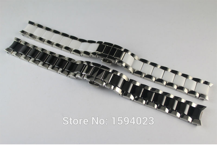 16mm T064210A New Watch Parts Solid Stainless steel bracelet ceramic strap Female models Watch Bands For