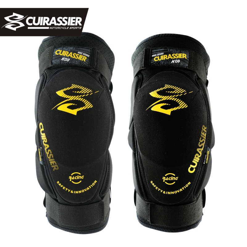 Motorcycle Protector Cuirassier K08 Motorbike Racing Motocross Off-Road Bike Knee Pads Guards Set Protective Gear