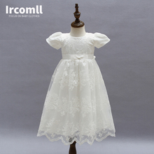 High Quality Baby Girls Princess Dress Christening Gown Dresses Infantis for Newborn Birthday Party Baptism недорого