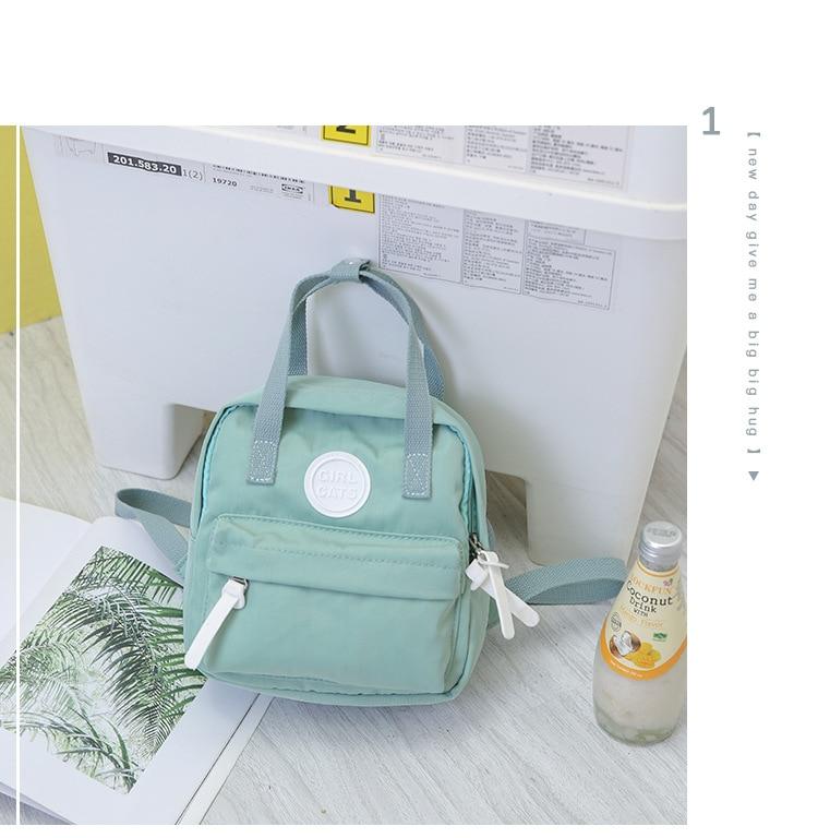 Aliwood simples lona mochila escolar pequena mochila