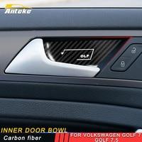ANTEKE For Volkswagen Golf 7 Golf 7.5 Car Styling Inner Door Bowl Door Wrist Cover Trim Frame Sticker Interior Accessories