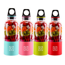 4 Blades Portable Blender Mix Pro Electric Blender USB Rechargeable 500ml Juicer Cup Extractor Shakes Fruit Smoothie Blend Jet(China)