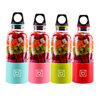 4 Blades Portable Blender Mix Pro Electric Blender USB Rechargeable 500ml Juicer Cup Extractor Shakes Fruit Smoothie Blend Jet