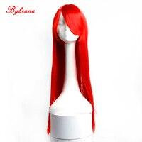 Bybrana длинные прямые волосы Красный, черный, синий цвет 9 Цвета Синтетические волосы высокое Температура Волокна Косплэй парик для Для женщин