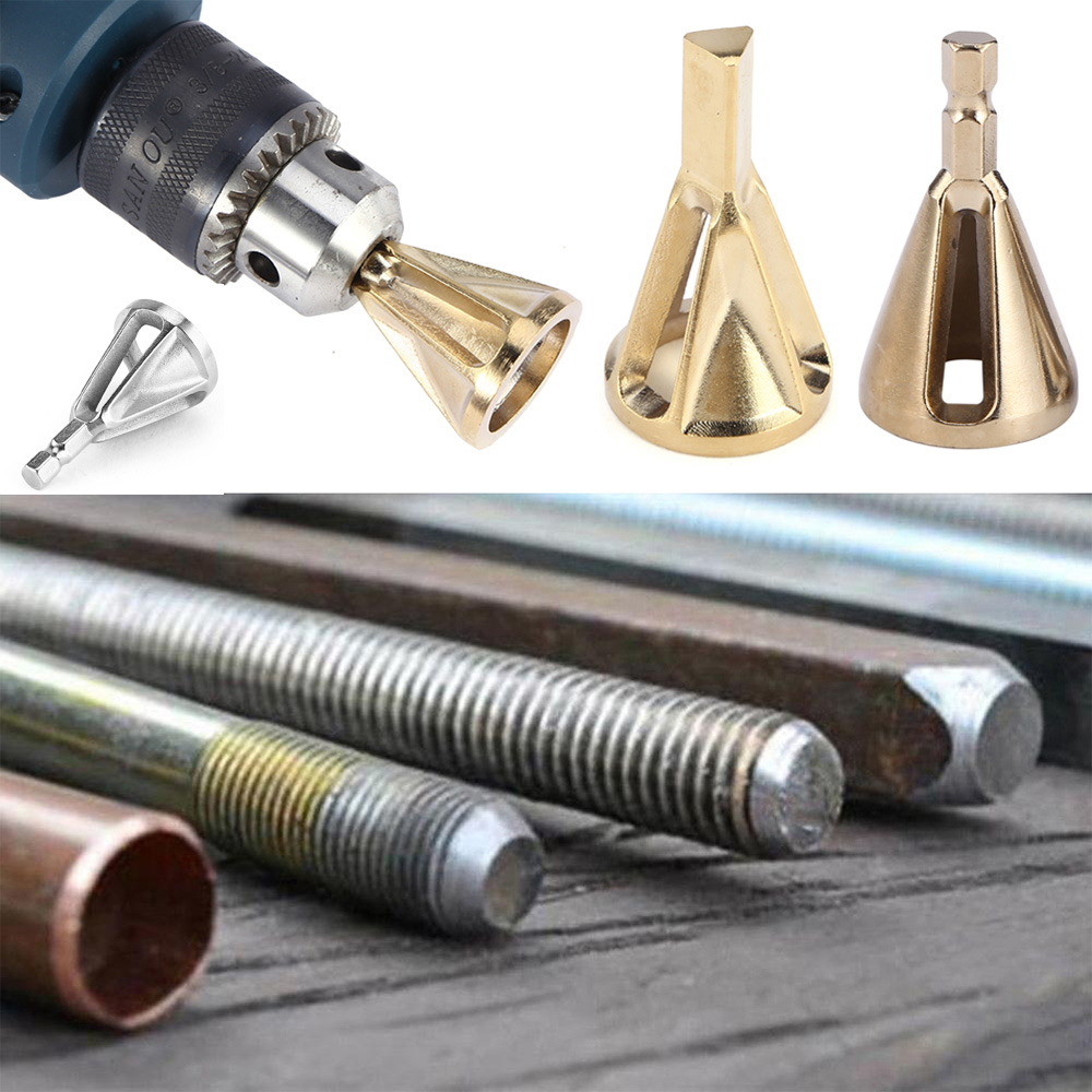 Deburring External Chamfer Tool Stainless Steel Metal Remove Burr Repairs Tools For Chuck Drills Bit For Rc DIY Toys
